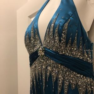 Tiffany Designs Dresses - Tiffany Designs Teal Prom Dress